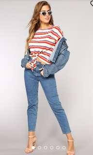 Fashionova High rise mom jean
