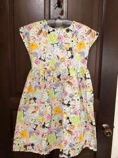 Tsum tsum cap sleeve dress for girls