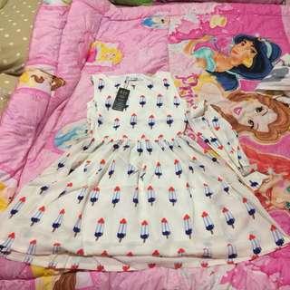 •brandnew• Cute White Korean Style Dress