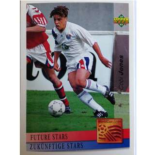 Cobi Jones (USA) - Soccer Football Card #145 (Future Stars) - 1993 Upper Deck World Cup USA '94 Preview Contenders