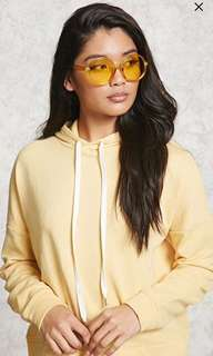 Forever 21 yellow tinted round shades