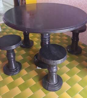 Antique Royal Stone Round Table