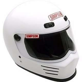 Simpson Street Bandit SIZE MEDIUM AND LARGE ONLY Motorbike Motorcycle Motocross Track Day Racing The Stig Top Gear Helmet White MSB15M1