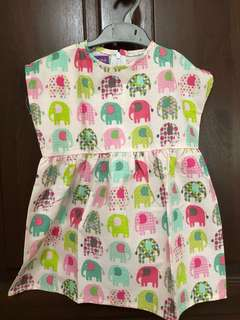 Cute elephant print cotton TOP for girls