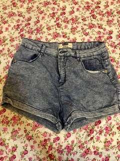 Bershka high waisted denim shorts