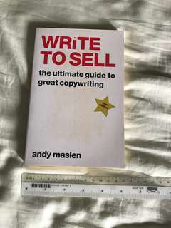 Write to Sell Book - Andy Maslen