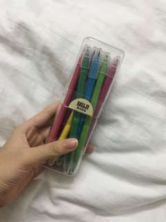 Muji marker and brush pen set (ALL COLOURS)