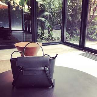 Celine nano black belt handbag