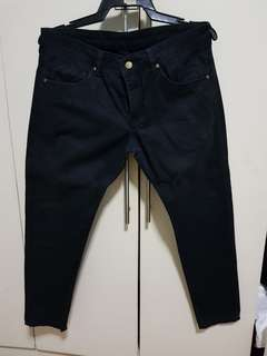 Human black slim jeans