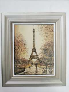 Counted Cross Stitch Kit - Eiffel Tower In Rain