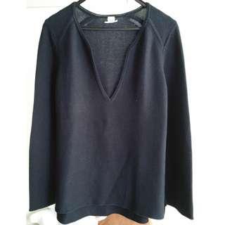 HERMES Black Knit Top
