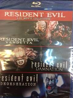 Resident Evil Boxset -Resident Evil: Degeneration / Resident Evil: Damnation / Resident Evil: Vendetta Blu-r