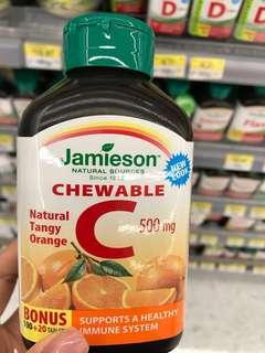 🇨🇦🇨🇦Jamieson vitamin C 500mg