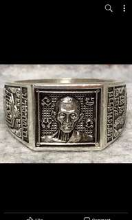 LP Ruay Real Silver Wealth Fetching Ring