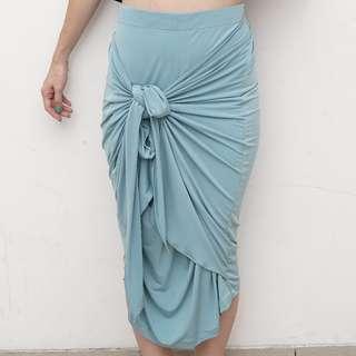 Lilac - Multi Layered Skirt - Turquoise - Free Size