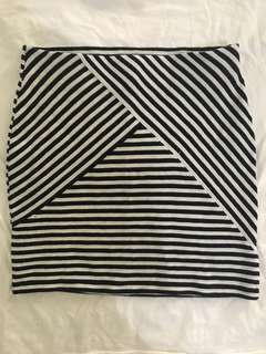 Forever21 Bodycon Stripes Skirt