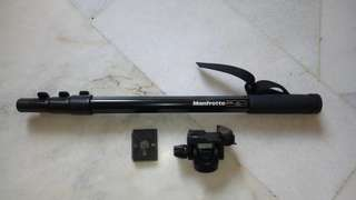 Manfrotto 676B DIGI MONOPOD black + 234RC Tilt Head