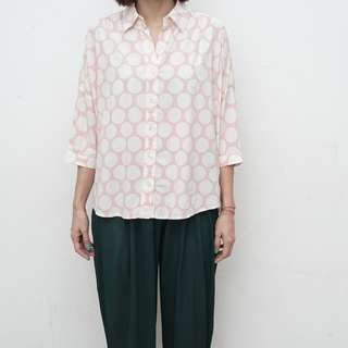 Easy Pieces - Pink Polka Shirt - Size S