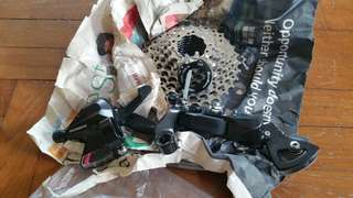Bicycle 8 speed groupset