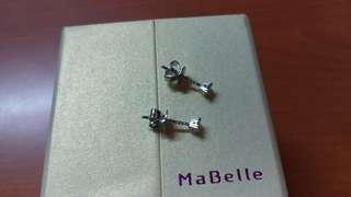 mabelle 18k白金24份鑽石耳環 $2000
