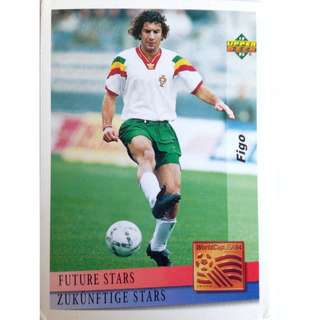 Figo (Portugal) - Soccer Football Card #137 (Future Stars) - 1993 Upper Deck World Cup USA '94 Preview Contenders