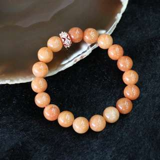 Type A Burmese Red Jade Jadeite beads bracelet - 10.2mm/bead 18 beads