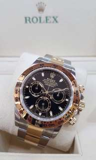 🆕 Authentic Brand New ROLEX DAYTONA 18kt Gold & Stainless 116503 Black Dial