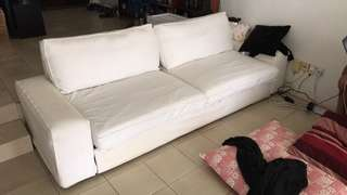 White 3-Seater Sofa