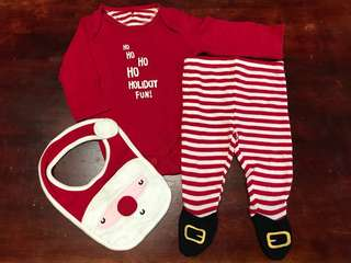 Santa baby set for Christmas outfit Mothercare brand