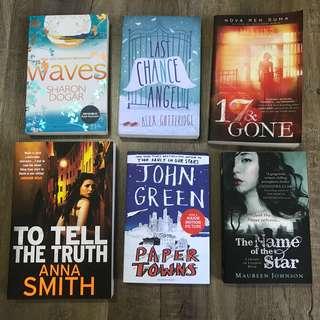 Novels - John Green, Alex Gutteridge, Anna Smith, Sharon Dogar, Maureen Johnson