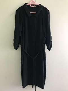 Bimba & Lola black 3/4 sleeve dress