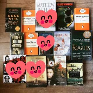 Great collection of mostly fiction, and non fiction books