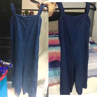 SOFT DENIM JUMPSUIT CULLOTE