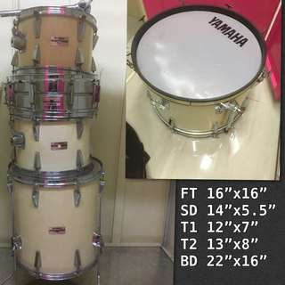 Yamaha Drums set(made in Japan)5 Drum only