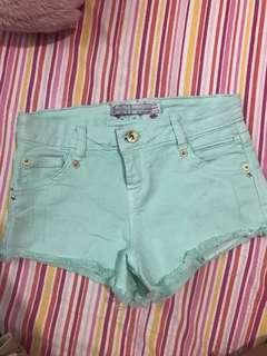 Bershka Mint Green Shorts