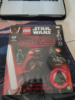 Authentic lego star wars book the dark side