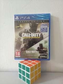 PS4 Games - COD Infinite Warfare + COD Modern Warfare Call of duty legacy edition [New]