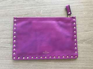 Valentino Rockstuds leather clutch bag 窩釘皮手拎袋