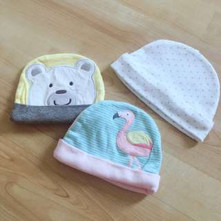 Preloved Baby Hats (Set of 3)