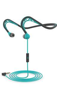 (30) Mucro Wired Neckband Running Earphone Outdoor Sports Headphone with Microphone.Workout In-ear Earbud
