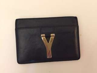 YSL saint laurent black card holder