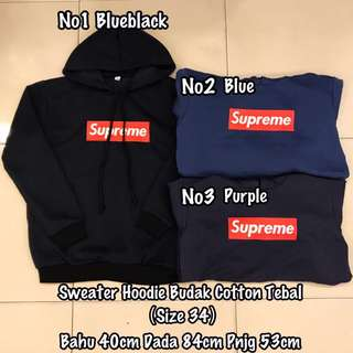 Readystock Unisex Kids Supreme Sweater Hoodie