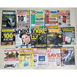 Majalah PC dan Game Impor Jadul Untuk Kolektor