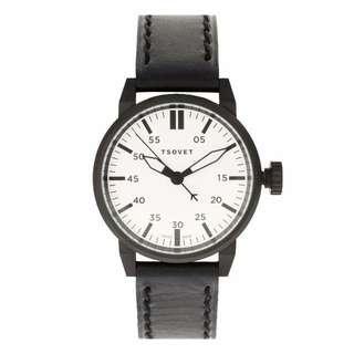 🚚 TSOVET SVT-FW44 黑色白面 瑞士錶 皮錶帶 ASOS 官網購入 全新
