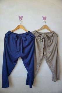 Candy pants (Peach and Navy Blue)