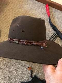 Akubra hat.