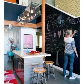 Chalkboard Blackboard Self-Adhesive DIY Wall Home Decor Decorations Sticker Vinyl Living Bed Room Furniture for Kids