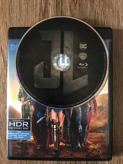 Justice League Blu Ray Disc