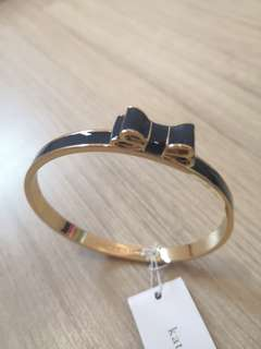 Kate Spade Navy Blue Ribbon Bangle
