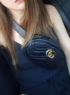 Gucci GG Mormont Leather Belt Bag
